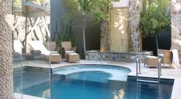 Pool im The Saxon , Villas & Spa Hotel in Johannesburg, Su00fcdafrika