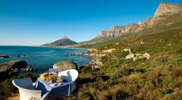 Picknick mit Blick auf die Metropole Twelve apostles Hotel & Spa, Kapstadt, Su00fcdafrika