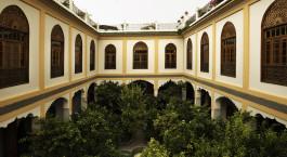 Innenhof des Palais Amani in Fes, Marokko