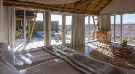 Schlafzimmer  im Hotel Little Kulala, Sossusvlei in Namibia