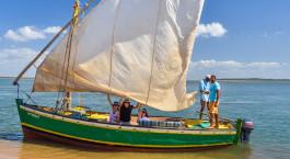 Segelboot in Inhaca, Mosambik