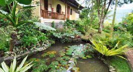 Auu00dfenansicht von Puri Lumbung Cottage in Munduk, Indonesien