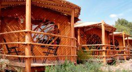 Auu00dfenansicht vom Hotel Poblado Kimal, San Pedro de Atacama in Chile