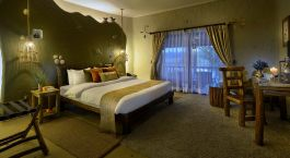 Double room at Barahi Jungle Lodge Hotel in Chitwan, Nepal