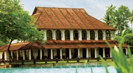 Auu00dfenansicht von Taj Kumarakom Resort & Spa in Kerala Backwaters, Su00fcdindien