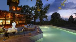 Pool im Pench Tree Lodge in Pench, Zentral & Westindien