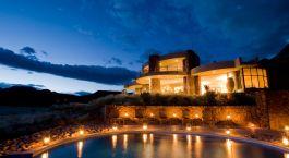 Auu00dfenansicht im Hotel  Sossusvlei Desert Lodge, Sossusvlei in Namibia