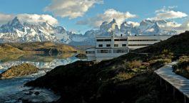 Auu00dfenansicht von Hotel Explora Patagonia, Torres del Paine in Chile