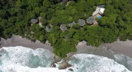 Bird's eye view of Arenas del Mar Hotel in Manuel Antonio, Costa Rica