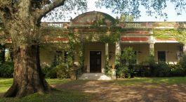 Auu00dfenansicht des Estancia El Ombu de Areco in Buenos Aires Province, Argentinien