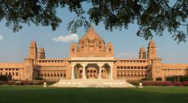 Fassade Umaid Bhawan Palace Jodhpur Indien