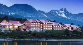 Auu00dfenansicht von Hotel Los Cauquenes, Ushuaia, Argentinien