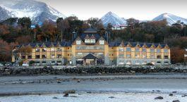 Auu00dfenansicht im Hotel Los Yu00e1manas, Ushuaia, Argentinien