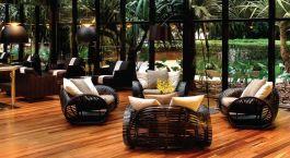 Lounge im Hotel Tivoli Sao Paulo Mofarrej, Su00e3o Paulo in Brasilien