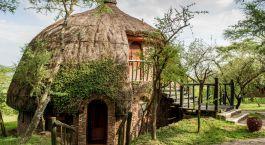 Auu00dfenansicht von Serengeti Serena Safari Lodge im Zentrale Serengeti, Tansania