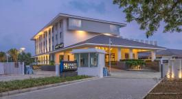 Auu00dfenansicht des Hyatt Place Rameswaram Hotel in Rameshwaram, Su00fcdindien