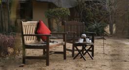 Fru00fchstu00fcck im Freien im Kambaku Safari Lodge in Kruger, Su00fcdafrika