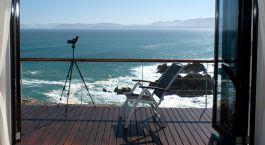 Blick auf das Meer im Cliff Lodge Ocean Front Retreat in Overberg, Su00fcdafrika