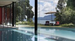 Swimmingpool im Hotel Antumalal, Pucon in Chile