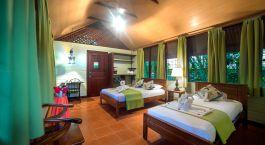 Zimmer mit zwei Einzelbetten im Hotel Aninga Lodge, Tortuguero, Costa Rica