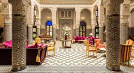 Lobby des Riad Fes Hotels in Fes, Marokko