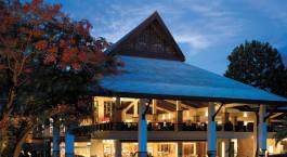 Auu00dfenansicht des Shangri La Rasa Ria Resort & Spa Hotel in Kota Kinabalu, Malaysia
