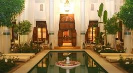 Pool im Riad Slitine Hotel in Marrakesch, Marokko