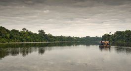 Auu00dfenansicht von Posada Amazonas, Puerto Maldonado in Peru