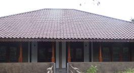 Auu00dfenansicht im Forest Rock Garden Hotel in Anuradhapura in Sri lanka