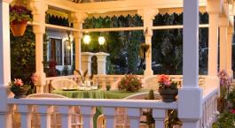 The garden of Elgin Hotel in Darjeeling, East India