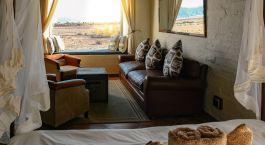 Lounge im Desert Homestead Lodge, Sossusvlei in Namibia