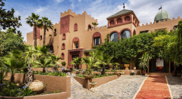 Exterior View of Kasbah Tamadot Hotel in High Atlas, Morocco