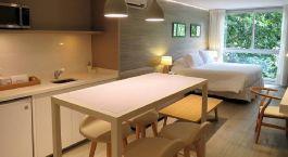 Doppelzimmer mit Ku00fcche im Smart Hotel Montevideo in Montevideo, Uruguay