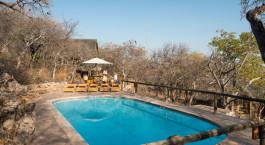 Pool im Ongava Lodge in Etosha (Anderson Gate), Namibia