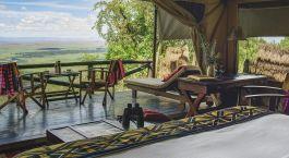 Terrasse im Kilima Camp in Masai Mara, Kenia