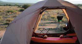 Mobiles Gu00e4stezelt des Karisia Expedition Mobile Camps in Laikipia, Kenia