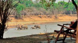 Ausblick im Mchenja Camp, South Luangwa in Sambia