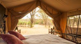 Zeltausblick im  Ndutu under Canvas,  Su00fcdliche Serengeti in Tansania