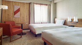 Zweibettzimmer im Hotel Mitsui Garden Kumamoto in Kumamoto, Japan