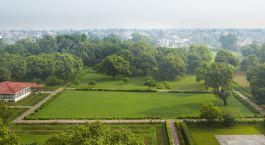 Blick in den Garten vom The Gateway Hotel Agra Indien