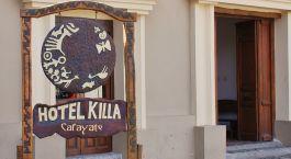 Eingang mit Schild des Killa in Cafayate, Argentinien