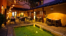 Restaurant im Hotel Fort Printers in Galle Fort, Sri Lanka
