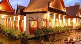Auu00dfenansicht im Sukhothai Hotel in Bangkok, Thailand