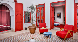 Private Terrasse im Riad Dar Baraka & Karam Hotel in Marrakesch, Marokko