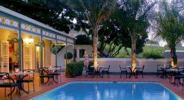 Pool im Hotel Grande Roche, Winelands, Su00fcdafrika