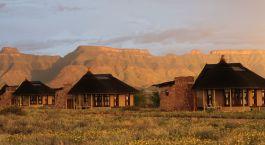 Auu00dfenansicht im Hotel Hoodia Desert Lodge, Sossusvlei in Namibia