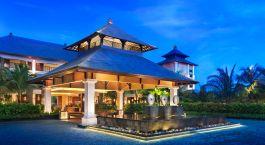 Exterior view of St. Regis Bali Resort Hotel in Nusa Dua, Indonesia