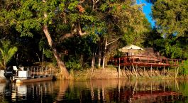 River view at Ndhovu Safari Lodge in Caprivi Strip, Namibia