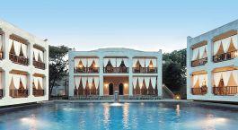 Auu00dfenansicht im Hotel Kilili Baharini Resort, Su00fcdku00fcste in Kenia