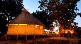 Auu00dfenansicht im Nsolo Bush Camp im South Luangwa, Sambia